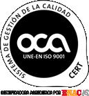 certificado gestion calidad ISO9001 Ginesur
