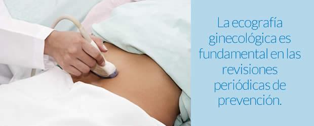 La ecografía ginecológica es fundamental en las revisiones periódicas de prevención